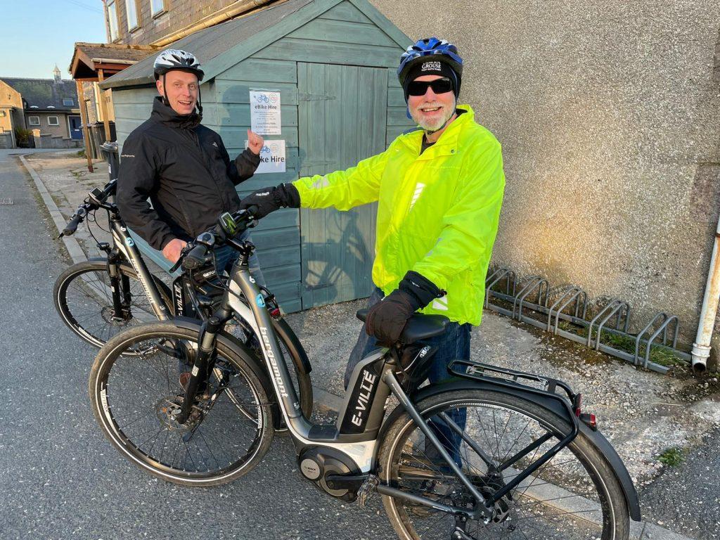E-bikes available