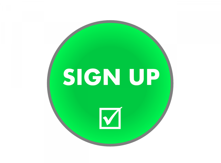 sign up, register, subscribe